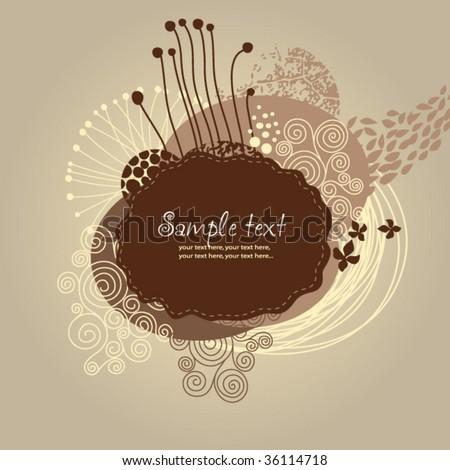 floral design - stock vector