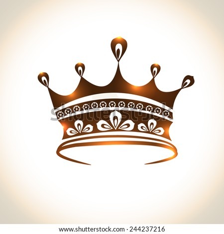 Queen crown logo design