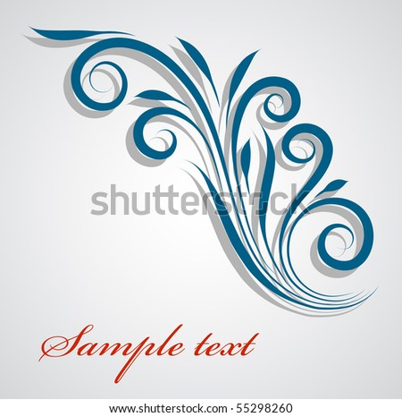 floral design element. place for text. - stock vector