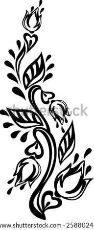 Floral design element. Vector illustration.