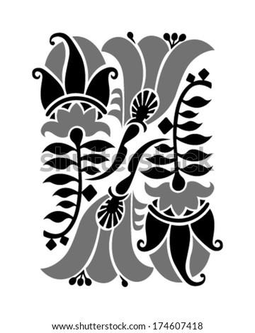 Floral Design Elements Page Decoration Art Stock Vector 174607418 ...