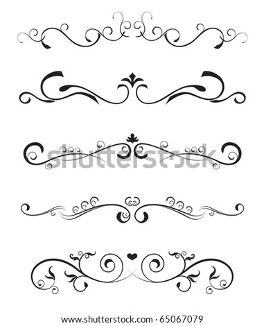 floral design elements? borders ornate - stock vector