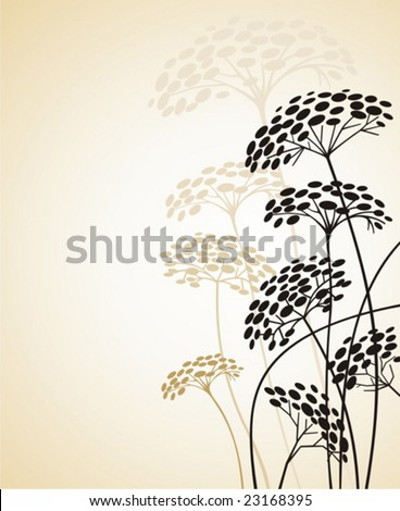 Floral design.  To see similar, please  visit MY PORTFOLIO. - stock vector