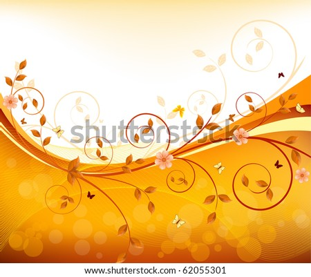 Floral design vector - stock vector