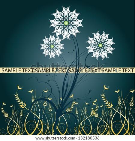 Floral design. Vector illustration - stock vector