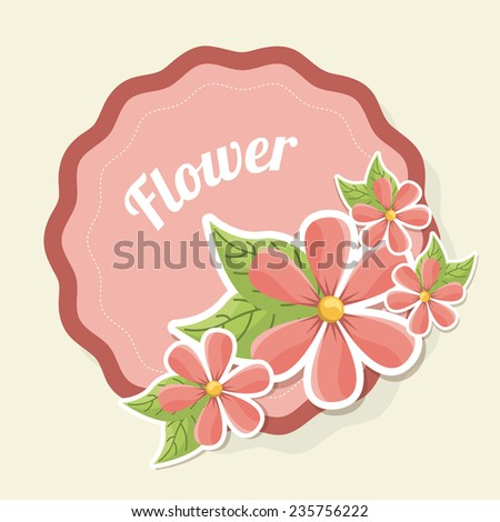 floral  design , vector illustration