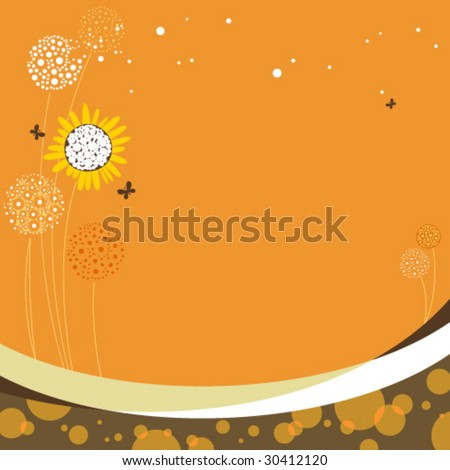 Floral design with copy space. - stock vector