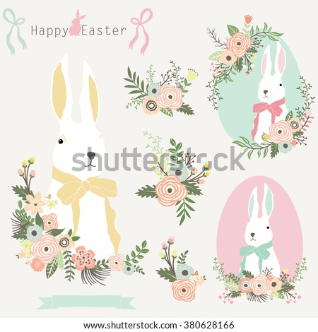 Floral Easter Bunny