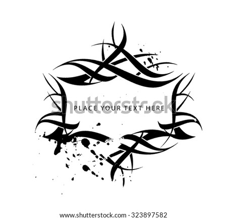Floral element with place for text for banner artwork. vector illustration - stock vector