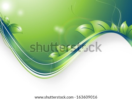 floral environmental vector frame with copy space. Eps10 - stock vector