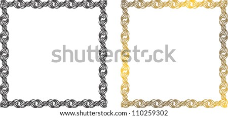 floral frame with an ornament of the chains