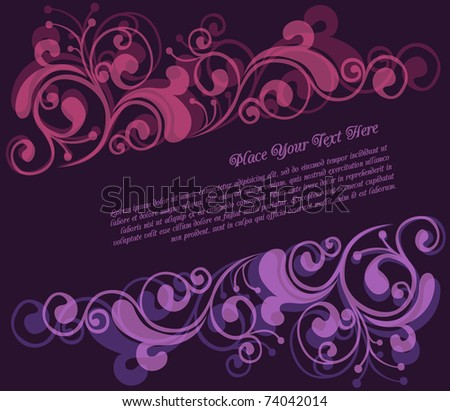 Floral frame with copy-space - stock vector