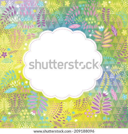 floral frame with place for your text  - stock vector