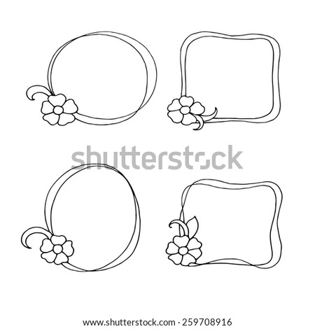 Floral frames - vector illustration