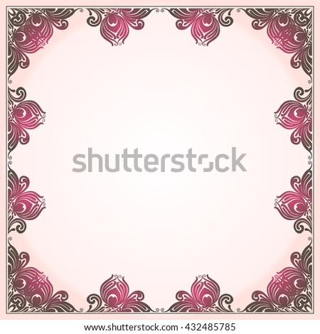 Floral Frames Vector Nice Frame Elegance Stock Photo (Photo, Vector ...