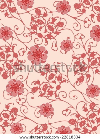 Floral fresh background 1 - stock vector