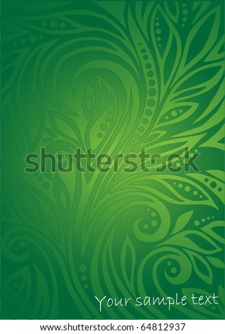 Floral green background - stock vector