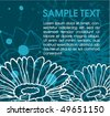 Floral grunge turquoise background with place for your text - stock vector