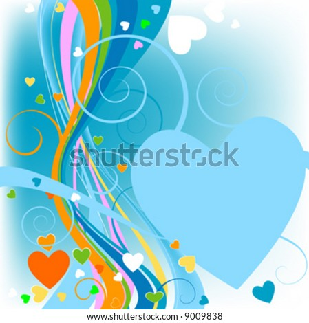 floral heart background for valentine`s day