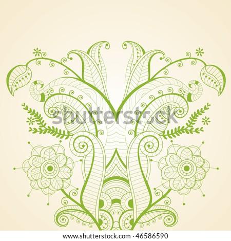 floral illustration - stock vector