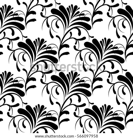 Floral isolated seamless pattern vector white stock vector 566097958 floral isolated seamless pattern vector white background with vintage black hand drawn flowers and decorative mightylinksfo