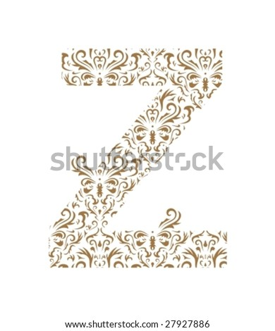 floral letter z ornament font