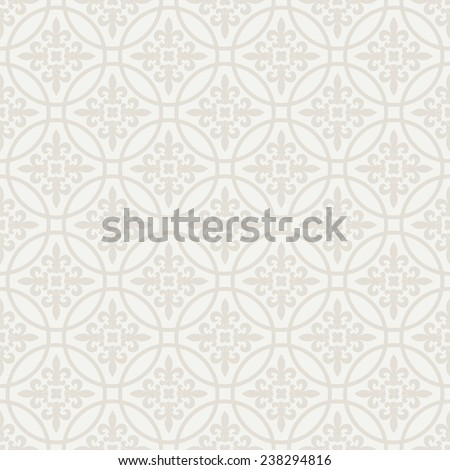 Floral light grey seamless background - pattern for continuous replicate. Endless vector texture can be used for wallpaper, pattern fills, web page background, surface textures. - stock vector