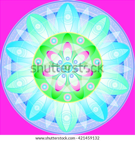 Floral mandala illustration - stock vector