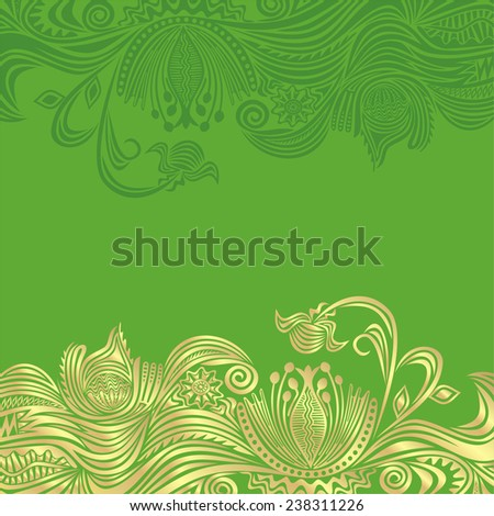 Floral nature background with pattern design elements vector illustration - stock vector