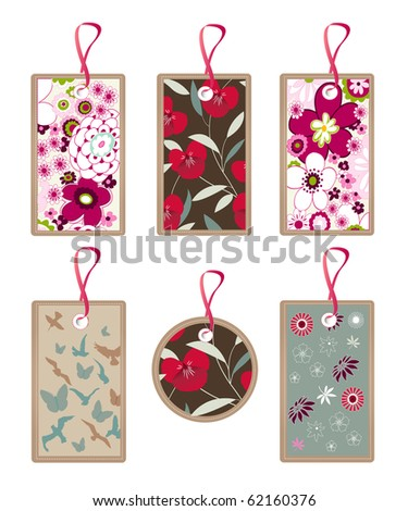 floral, nature tags, pattern, texture