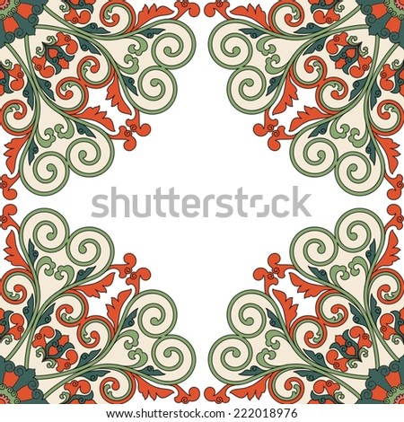 Floral oriental pattern in China style. - stock vector