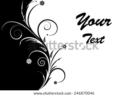 Floral ornament and place for your text. Vector illustration - stock vector