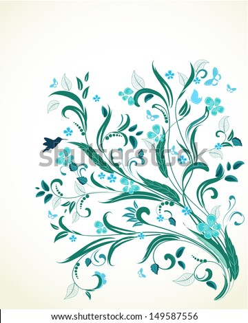 floral ornament  for your design