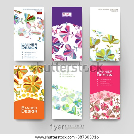 floral ornament vector brochure template. Flyer Layout. Creative modern design