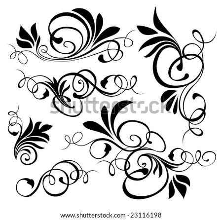 Floral ornaments 3 - stock vector