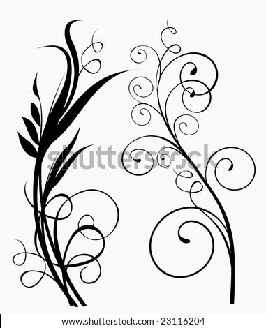Floral ornaments 5 - stock vector