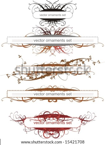 floral ornaments,borders,banners,vector