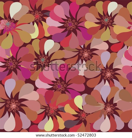 Floral ornate seamless pattern