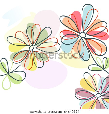 Floral pastel - stock vector