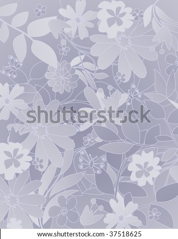 floral pattern 5 - stock vector