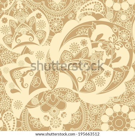 floral pattern in vintage style