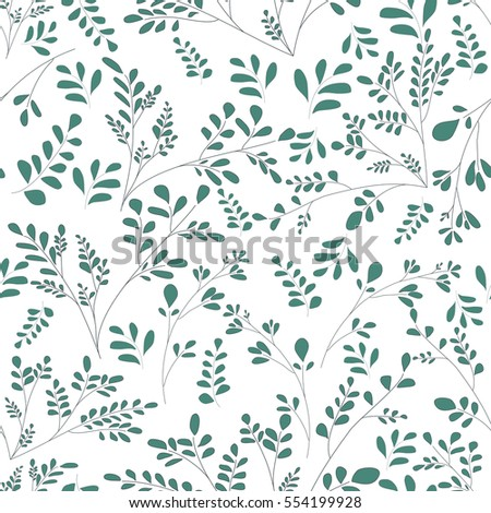 Download Seamless Simple Floral Pattern With Rose Flowers Stock
