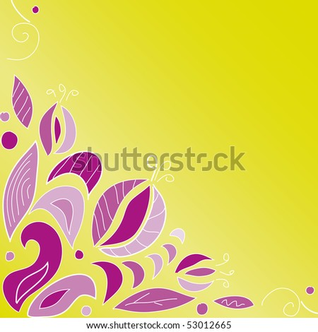 Floral pattern on a yellow background