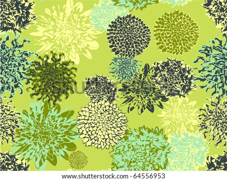Floral pattern. Seamless - stock vector