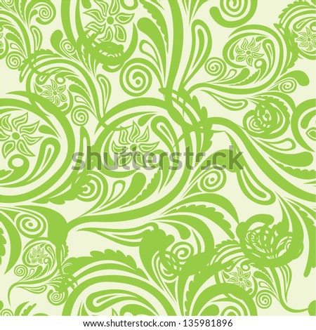 Floral pattern seamless background vector illustration