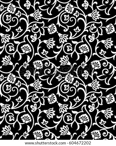 floral pattern vector stock vector 604672202 shutterstock rh shutterstock com floral pattern vector illustration floral pattern vector download