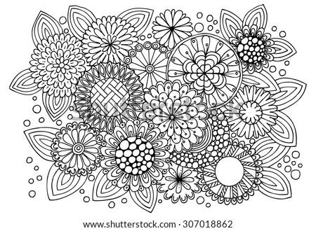 Vector Pattern Coloring Book Ethnic Retro Stock Vector