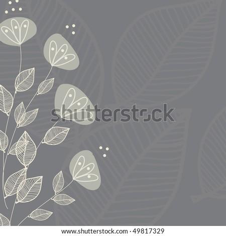 Floral pattern. Vector illustration. - stock vector