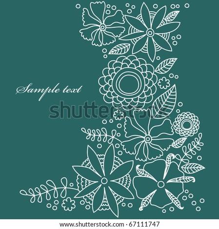 floral pattern. vector illustration - stock vector