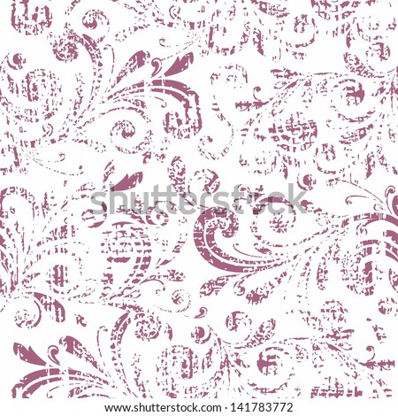 Floral pattern. Vector vintage background. - stock vector